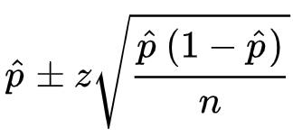 Proportion Confidence Interval Formula