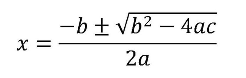 Quadratic Formula Equation