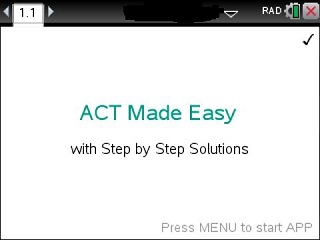 ACT Made Easy App for the TiNspire calculator