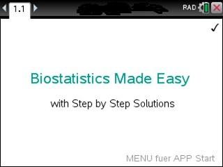 Biostatistics Made Easy App for the TiNspire calculator