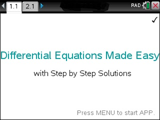 ▷Differential Equations Made Easy - Step by Step ✅ - with the TI