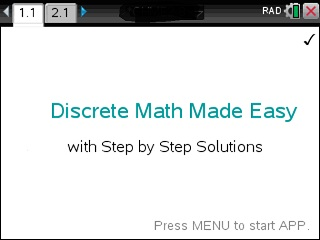 Discrete Math Made Easy App for the TiNspire calculator