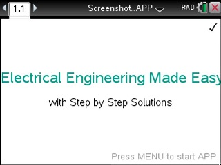 Electrical Engineering Made Easy App for the TiNspire calculator
