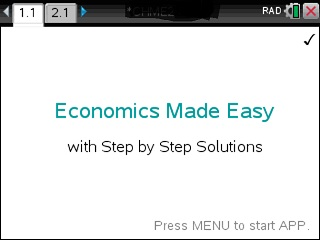 Economics Made Easy App for the TiNspire calculator