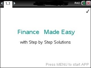 Finance Made Easy App for the TiNspire calculator