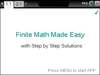 Finite Math Made Easy