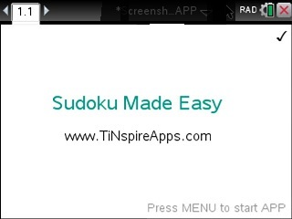 Sudoku Made Easy App for the TiNspire calculator