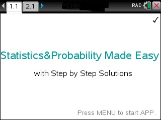 acirc middot statistics made easy step by step the ti nspire cx cas acirc  solve statistics problems stepwise using the ti nspire calculator