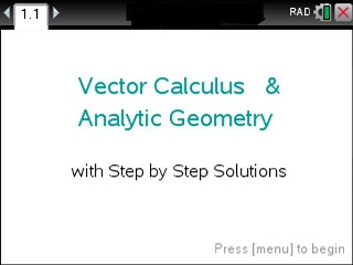 Vector Calculus Made Easy