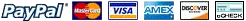Payment Options: Paypal, Mastercard, VISA, American Express, Discover, eCheck