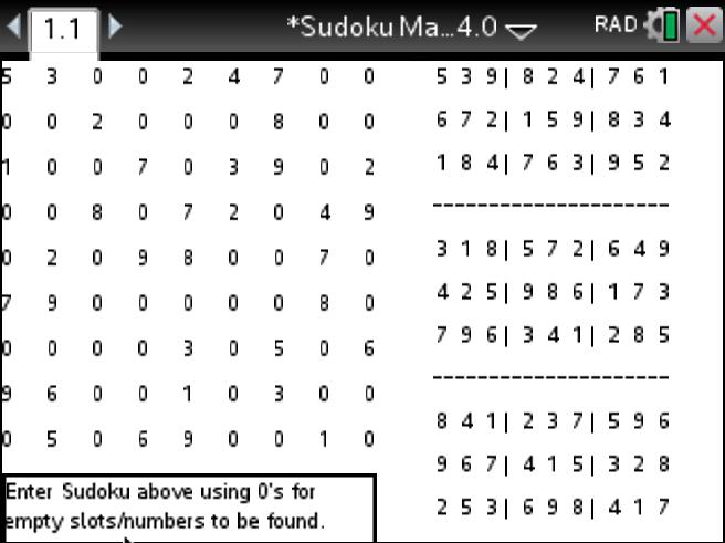 Play Sudoku on the Ti-Nspire CX Apps or TI-Nspire CX CAS Apps